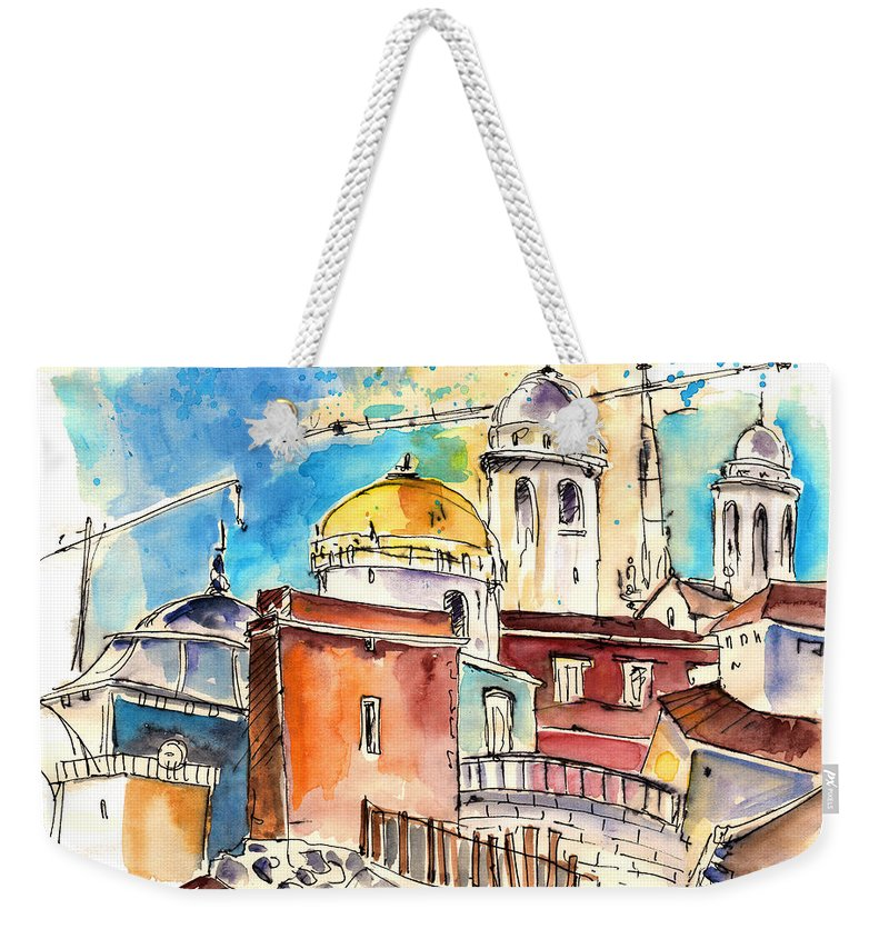 Travel Weekender Tote Bag featuring the painting Cadiz Spain 02 by Miki De Goodaboom