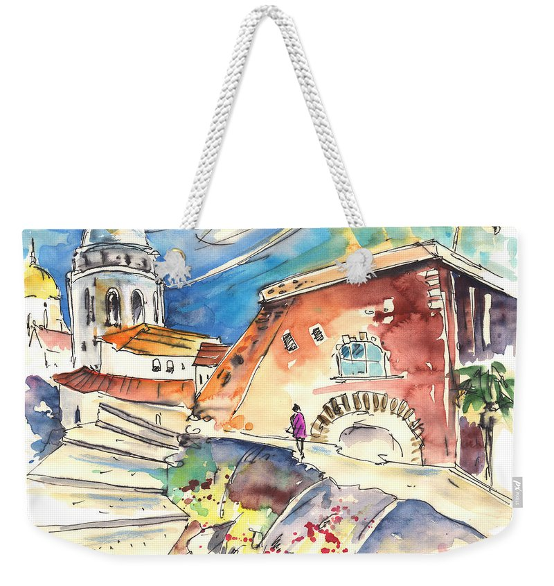 Travel Weekender Tote Bag featuring the painting Cadiz Spain 03 by Miki De Goodaboom
