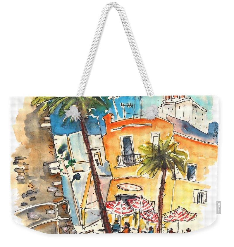 Travel Weekender Tote Bag featuring the painting Cadiz Spain 04 by Miki De Goodaboom