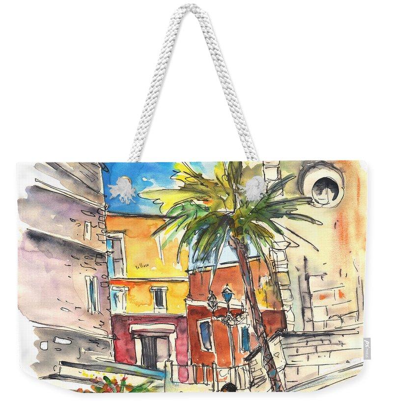 Travel Weekender Tote Bag featuring the painting Cadiz Spain 05 by Miki De Goodaboom