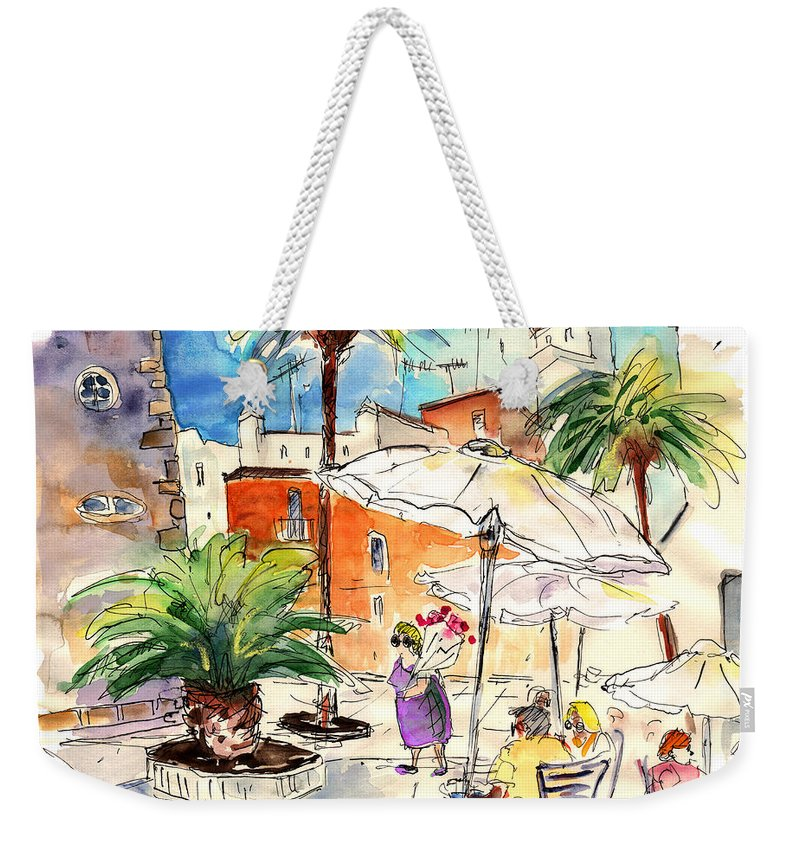 Travel Weekender Tote Bag featuring the painting Cadiz Spain 13 by Miki De Goodaboom