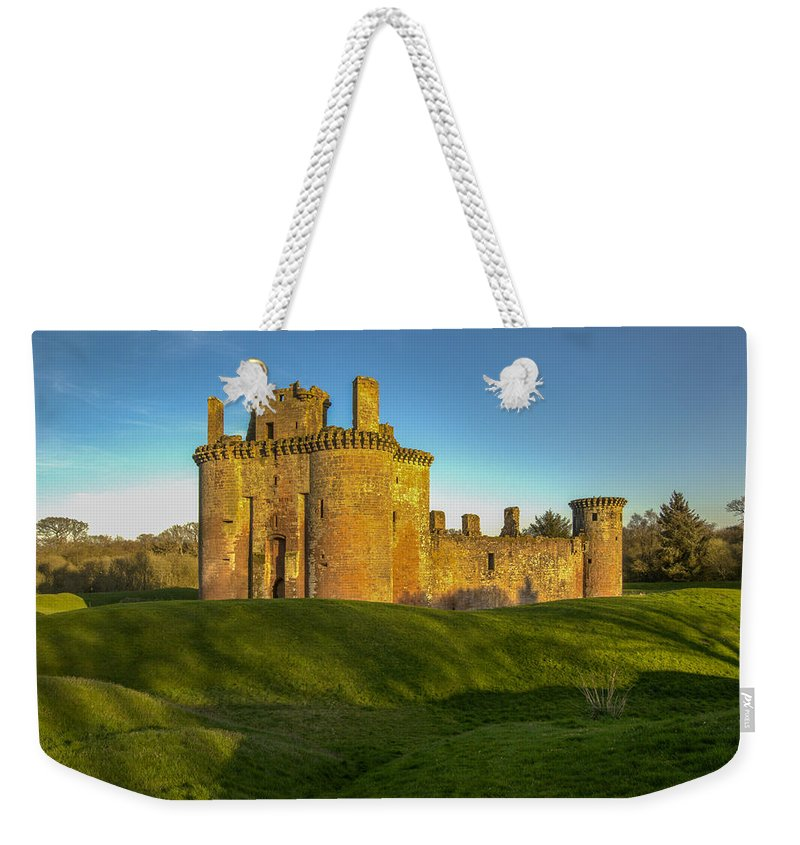 Caerlaverock Castle Weekender Tote Bag featuring the photograph Caerlaverock Castle - 1 by Paul Cannon