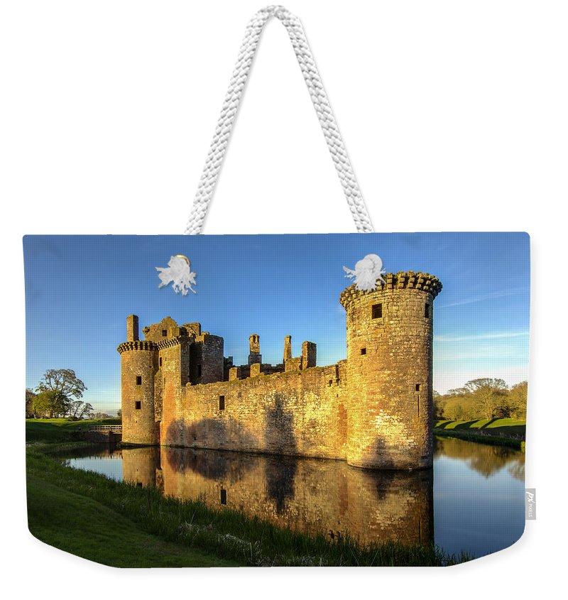 Caerlaverock Castle Weekender Tote Bag featuring the photograph Caerlaverock Castle - 3 by Paul Cannon