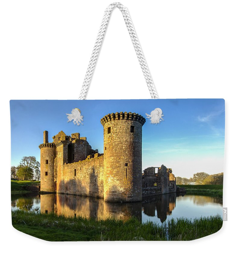 Caerlaverock Castle Weekender Tote Bag featuring the photograph Caerlaverock Castle - 4 by Paul Cannon