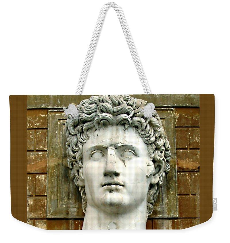 Caesar Augustus Weekender Tote Bag featuring the photograph Caesar Augustus by Ellen Henneke