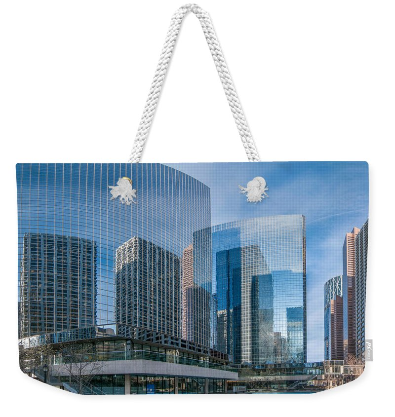 Buildings Weekender Tote Bag featuring the photograph Calgary Glass by Guy Whiteley