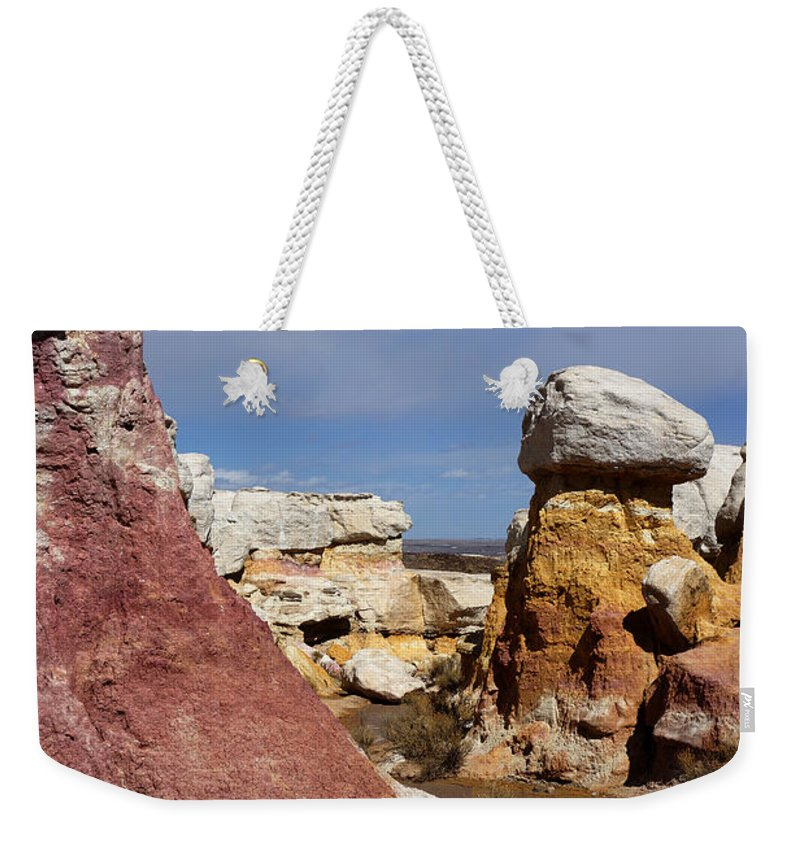 Calhan Paint Mines Weekender Tote Bag featuring the photograph Calhan Paint Mines 3 by Ernie Echols