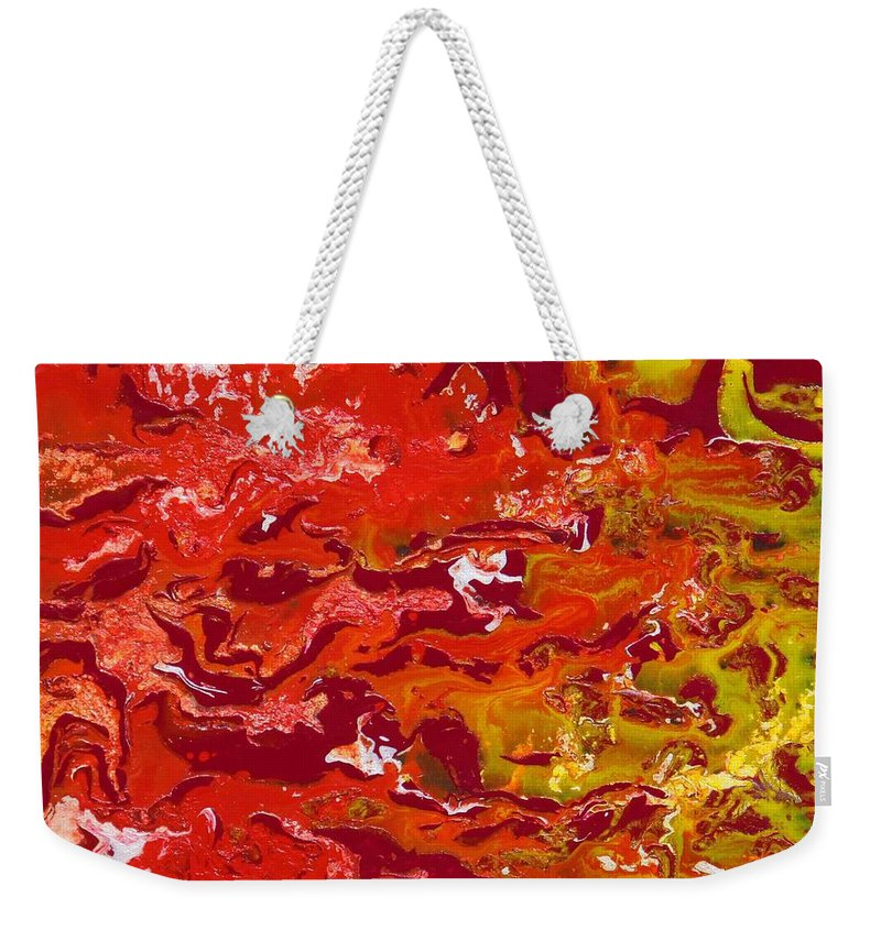 Fusionart Weekender Tote Bag featuring the painting Caliente by Ralph White