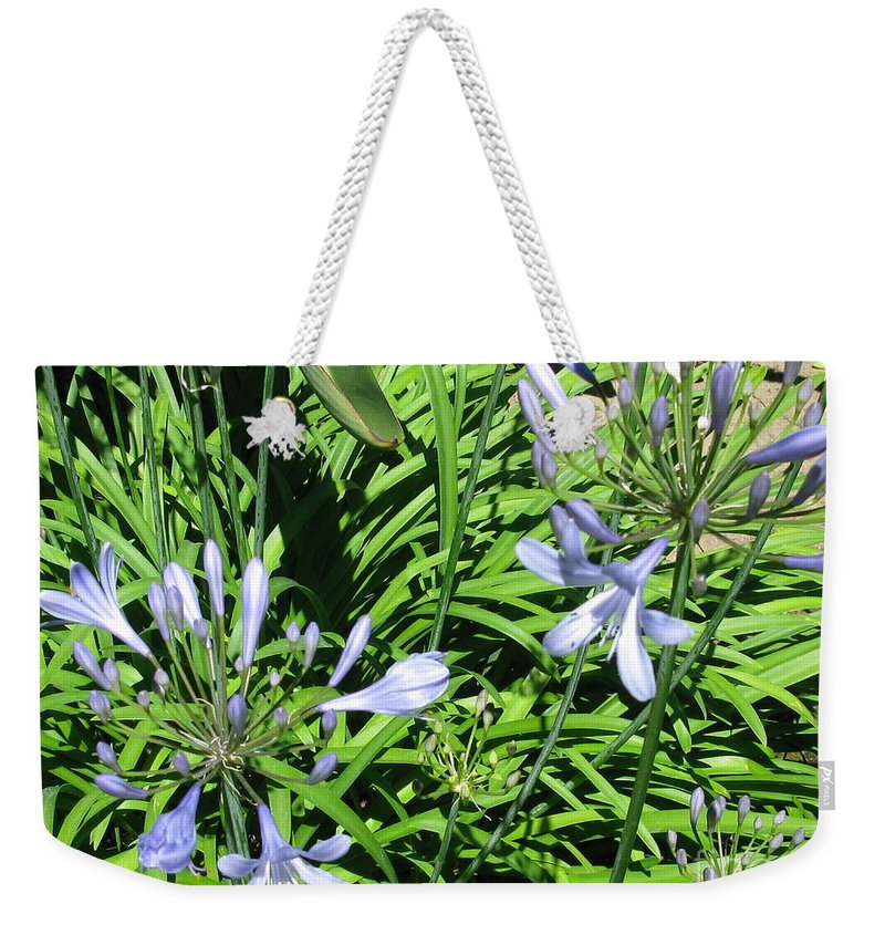Lilac Weekender Tote Bag featuring the photograph California Beauty by Mini Arora