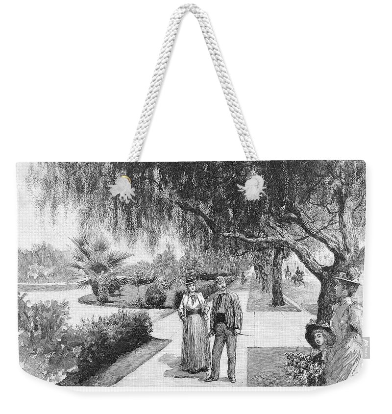 1890 Weekender Tote Bag featuring the painting California Los Angeles by Granger