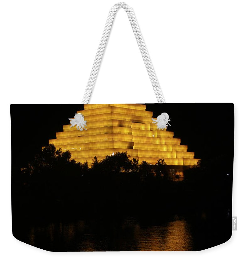 Sacramento River Weekender Tote Bag featuring the photograph California Pyramid by Yousif Hadaya