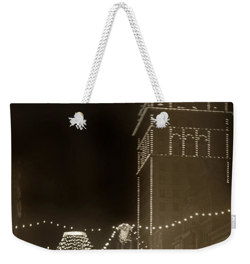 Call Building Weekender Tote Bag featuring the photograph Call Building On Market Street San Francisco California 1902 by California Views Archives Mr Pat Hathaway Archives