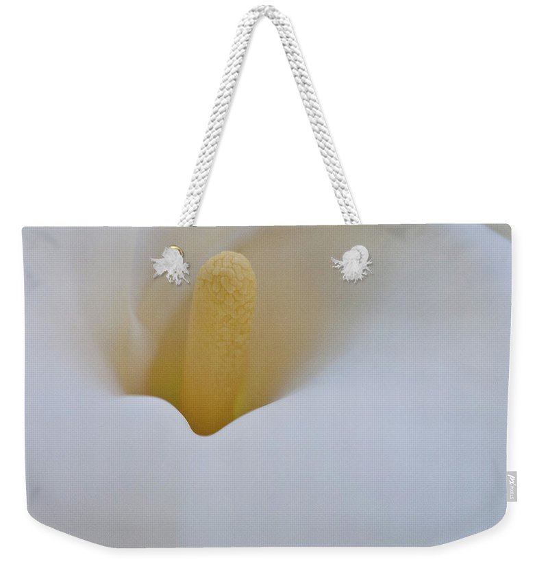 Calla Weekender Tote Bag featuring the photograph Calla Details 10 by Heiko Koehrer-Wagner