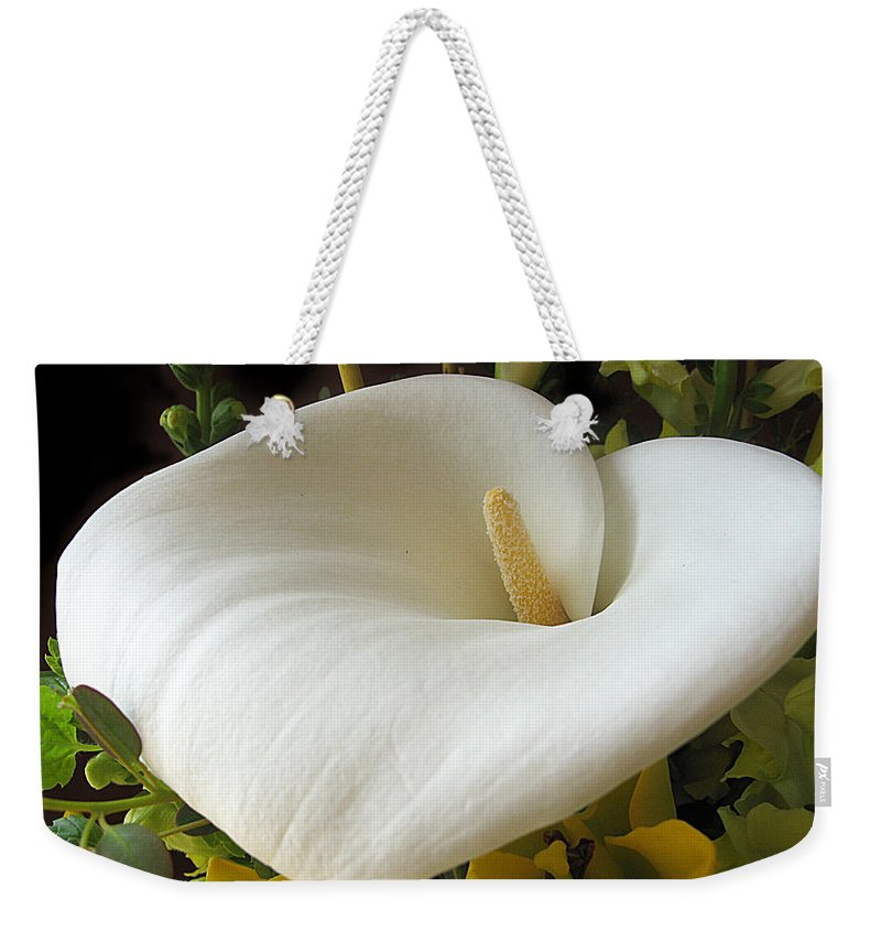 Flower Weekender Tote Bag featuring the photograph Calla by Jessica Jenney