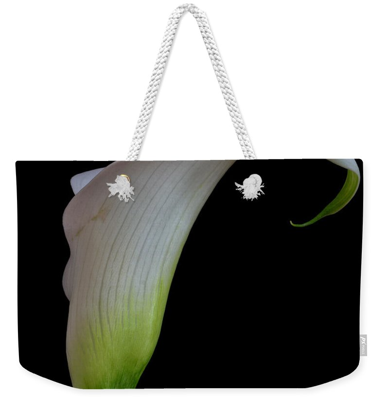 Calla Weekender Tote Bag featuring the photograph Calla Lily by David Pringle