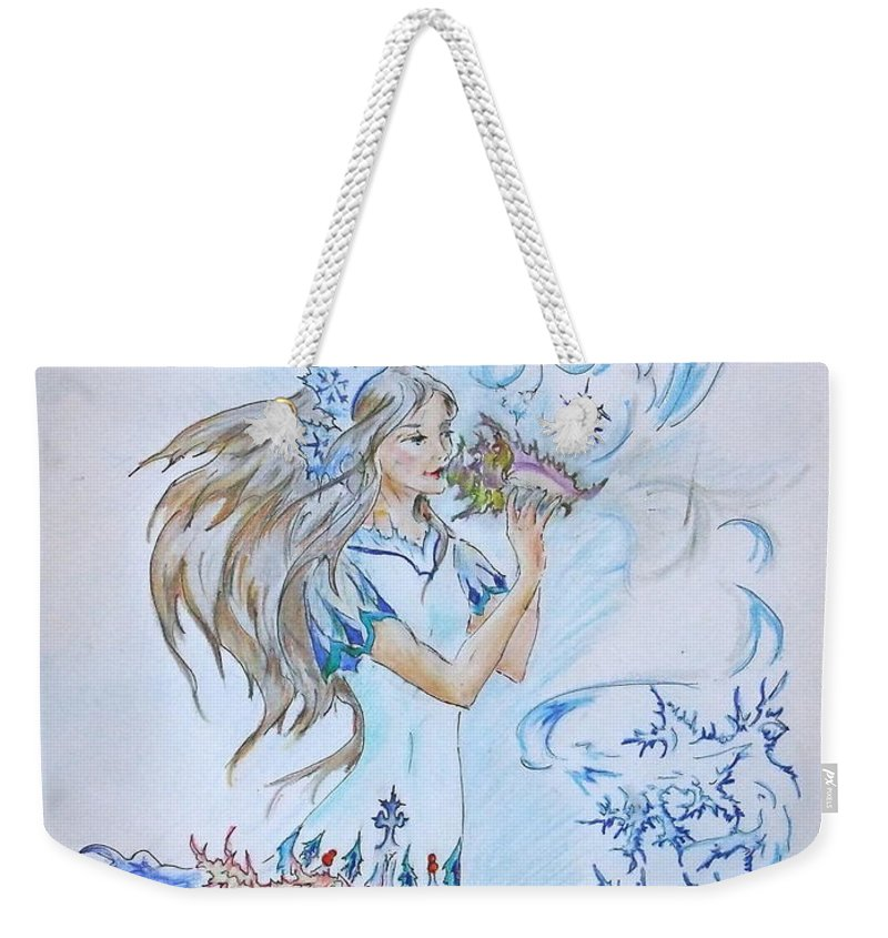 Weekender Tote Bag featuring the photograph Calling Winter by Katerina Naumenko