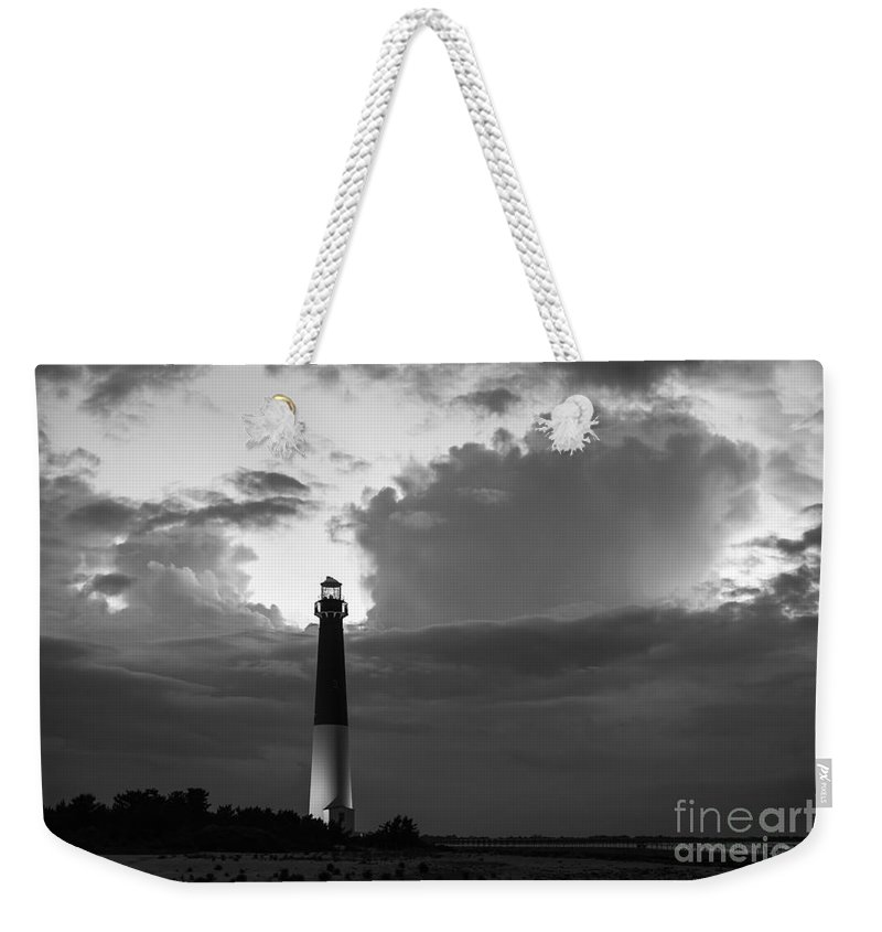 Barnegat Lighthouse Weekender Tote Bag featuring the photograph Calm Before The Storm by Michael Ver Sprill