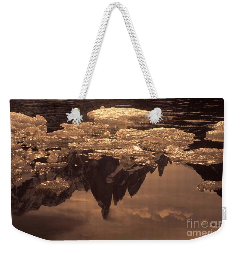 Patagonia Weekender Tote Bag featuring the photograph Calm Day In Patagonia by James Brunker