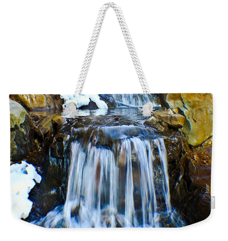 Water Weekender Tote Bag featuring the photograph Camelback Mini Falls by Gary Keesler