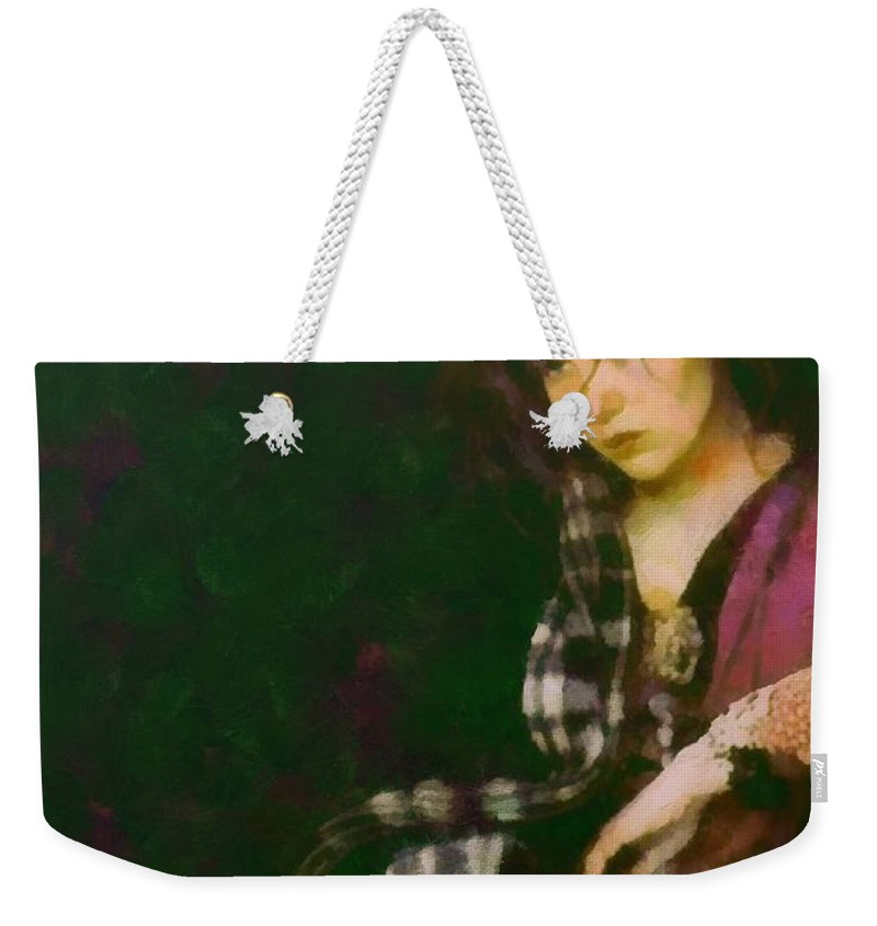 Isabelle Adjani Weekender Tote Bag featuring the painting Camille Claudel by Janice MacLellan