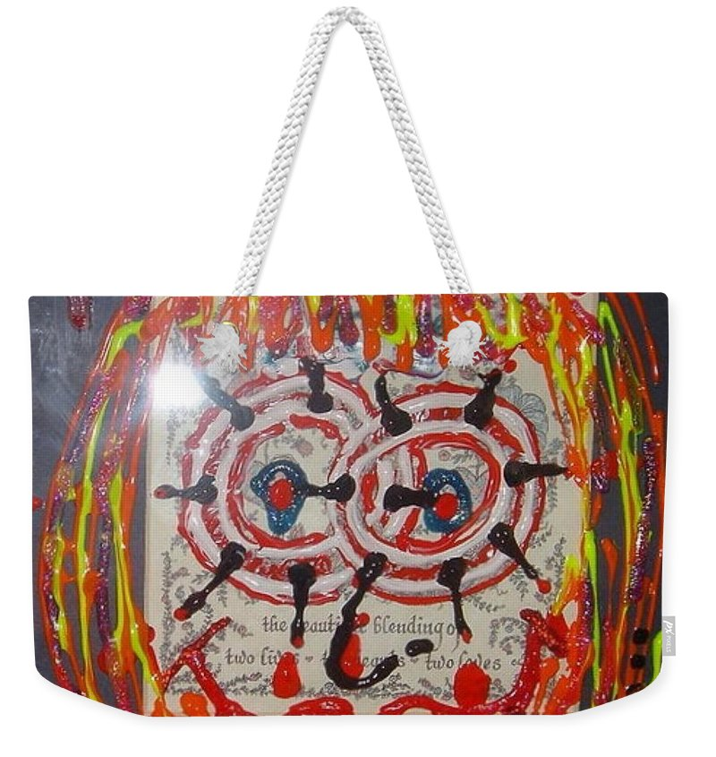 Stress Weekender Tote Bag featuring the painting Camille by Lisa Piper