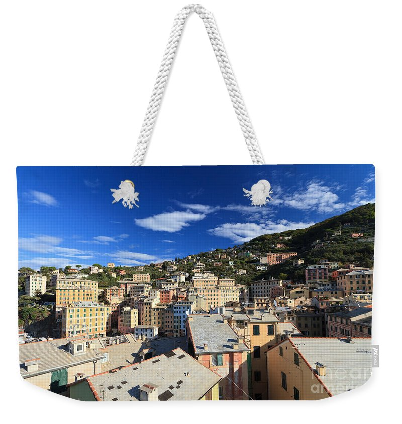 Ancient Weekender Tote Bag featuring the photograph Camogli by Antonio Scarpi