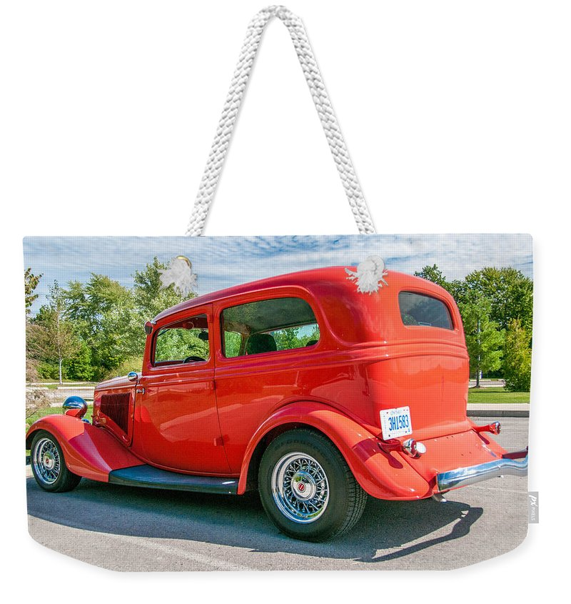 Antique Ford Weekender Tote Bag featuring the photograph Canadian Beauty 3d21745 by Guy Whiteley