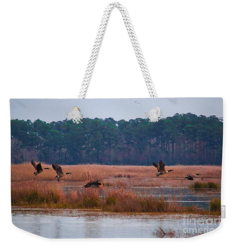 Canada Weekender Tote Bag featuring the photograph Canadian Flight 3 by Scott Hervieux