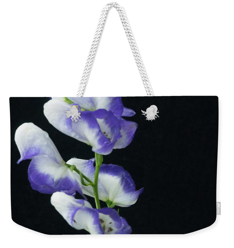 Alberta Weekender Tote Bag featuring the photograph Canadian Monkshood by Douglas Barnett