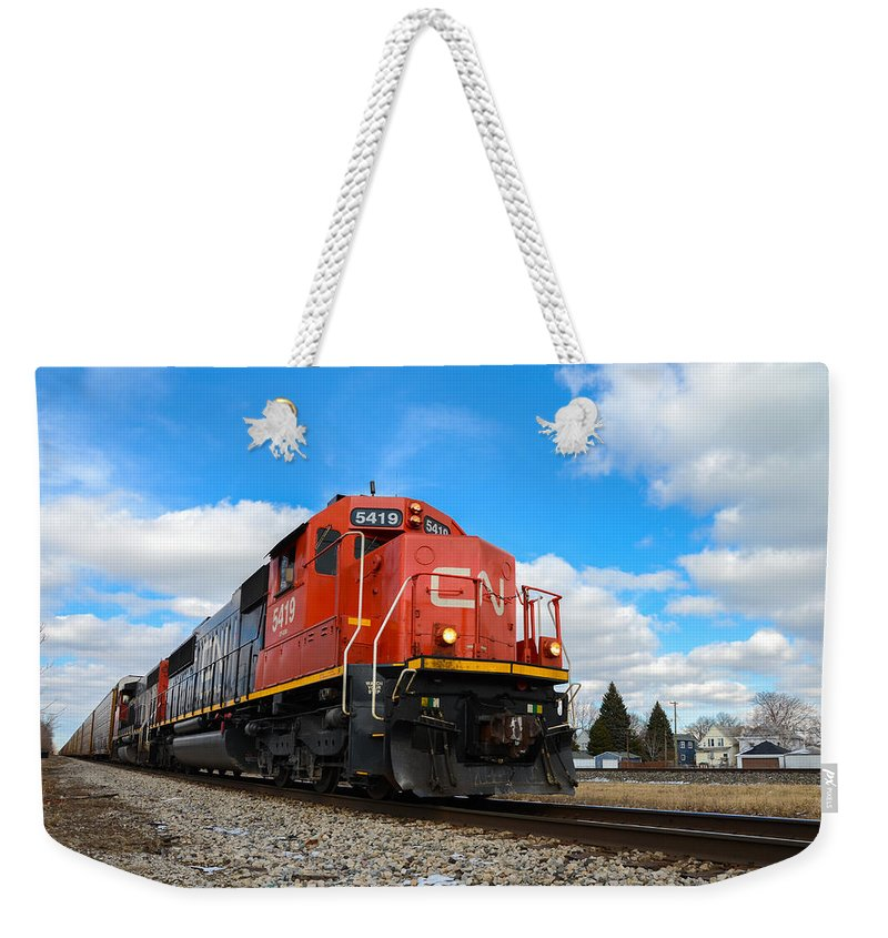 Canadian National Weekender Tote Bag featuring the photograph Canadian National by Gales Of November