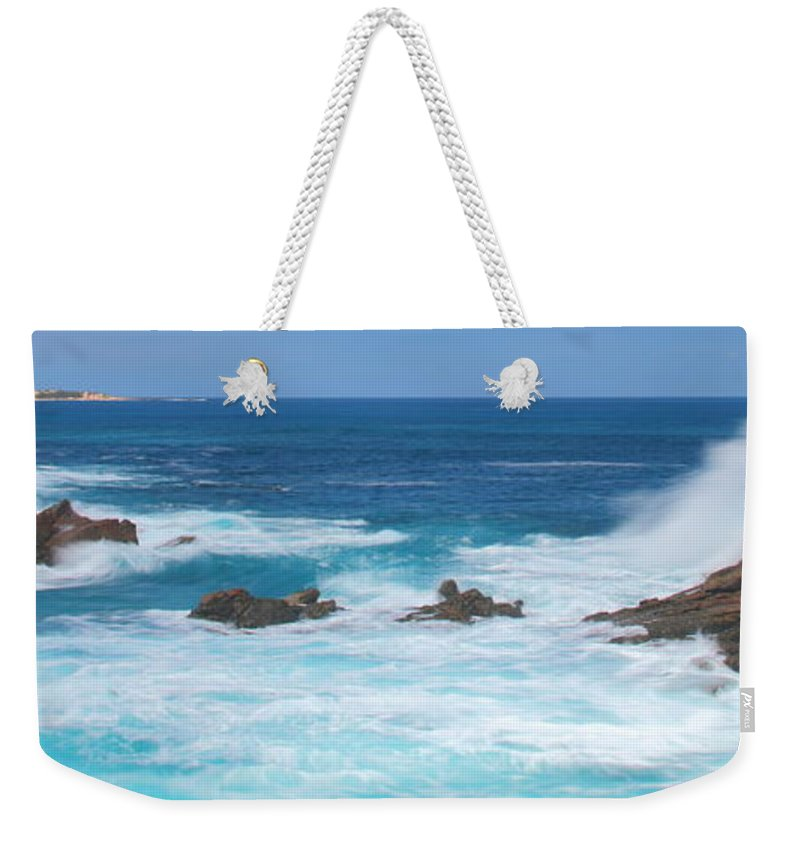 Indian Ocean Weekender Tote Bag featuring the photograph Canal Rocks 2am-113297 by Andrew McInnes