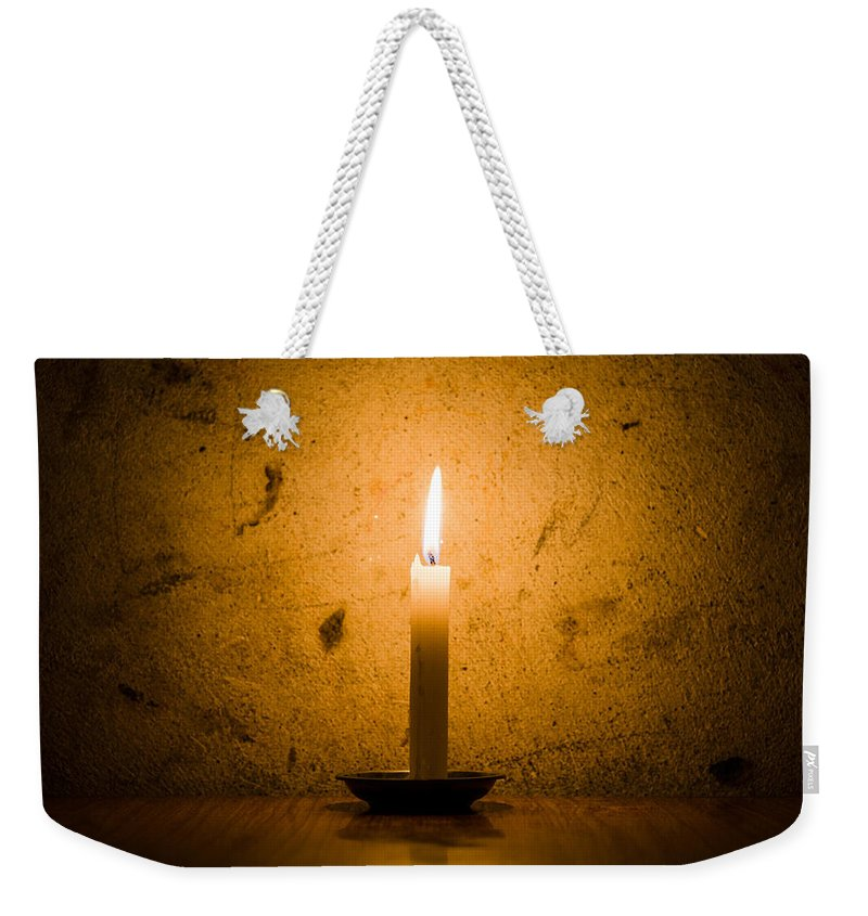 Candle Weekender Tote Bag featuring the photograph Candle by Dutourdumonde Photography