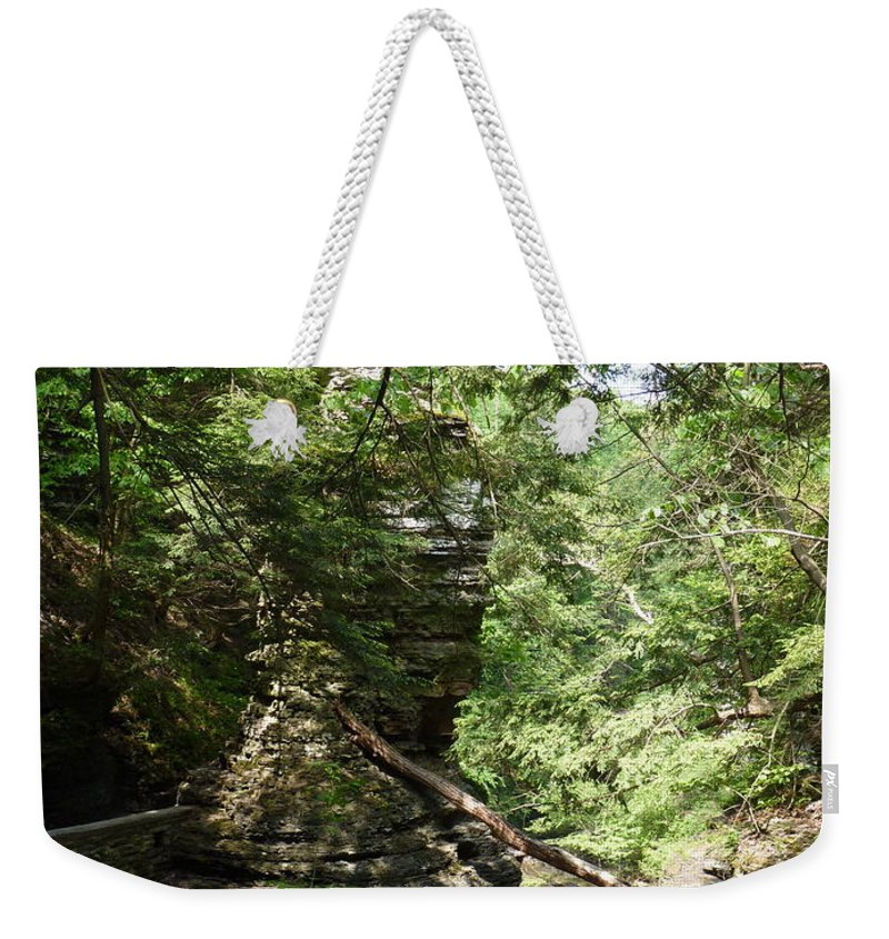 Weekender Tote Bag featuring the photograph Candle Of Rock by Katerina Naumenko