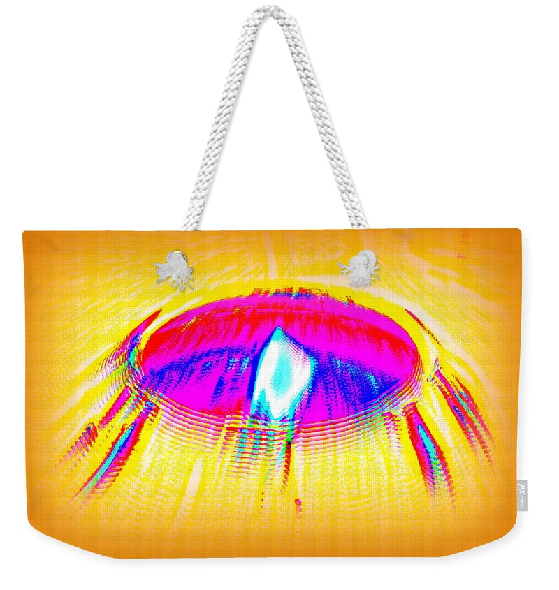 Candle Weekender Tote Bag featuring the photograph Candle On A Sunny Day by Larry Ward