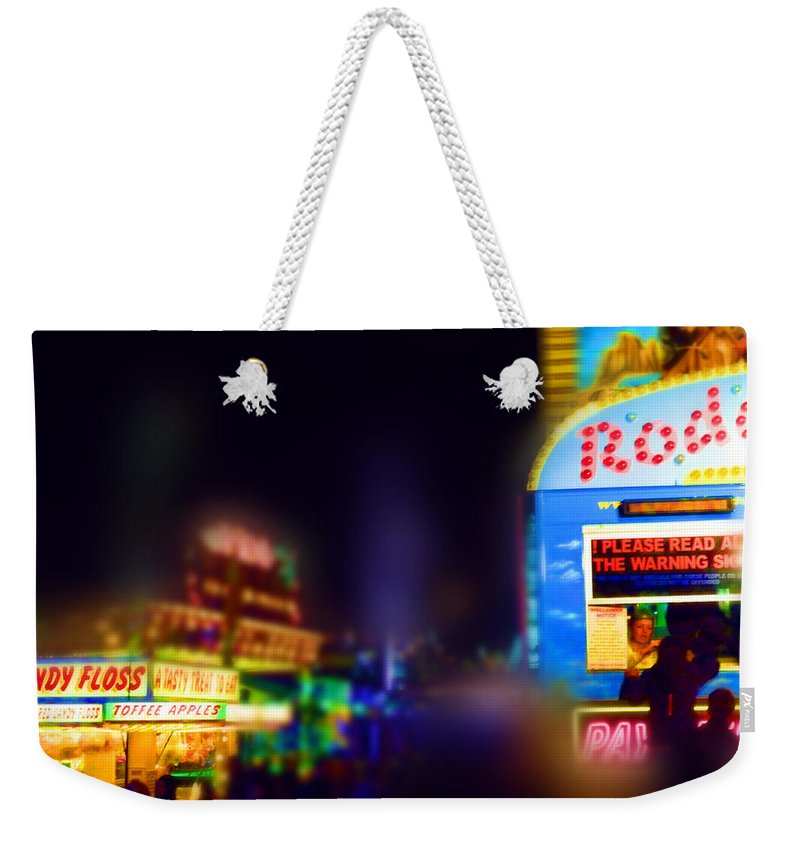 Sugar Candy Weekender Tote Bag featuring the painting Candy Floss Rodeo by Charles Stuart