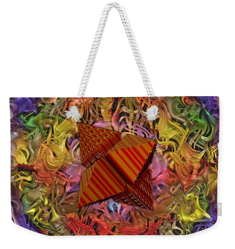 Fractal Art Weekender Tote Bag featuring the digital art Candylicious by Mario Carini