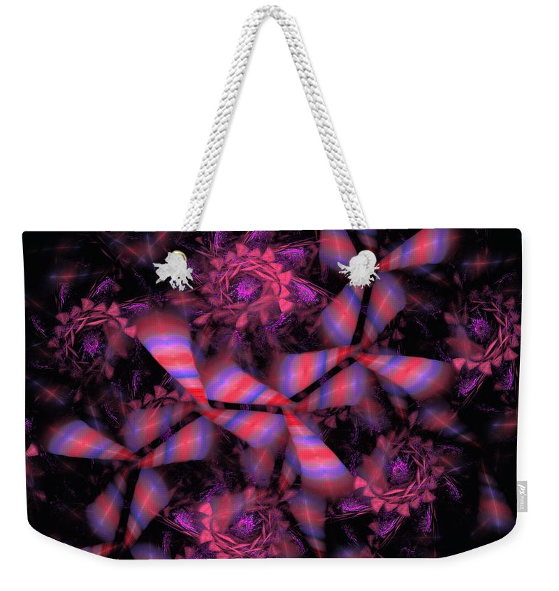 Fractal Weekender Tote Bag featuring the digital art Candyman by GJ Blackman