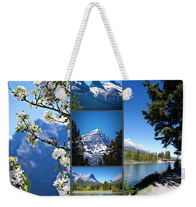 Canmore Weekender Tote Bag featuring the photograph Canmore Alberta by Lisa Knechtel