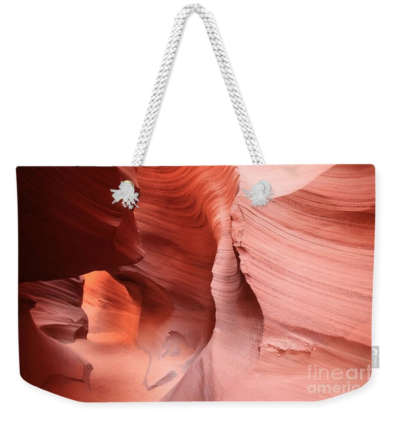 Arizona Slot Canyon Weekender Tote Bag featuring the photograph Canyon Angel by Adam Jewell