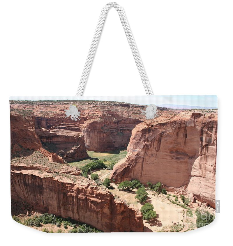 Canyon Weekender Tote Bag featuring the photograph Canyon De Chelly Arizona by Christiane Schulze Art And Photography