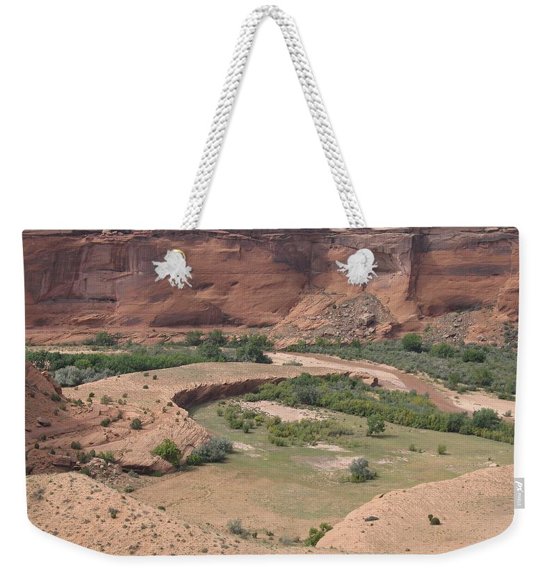 Canyon Weekender Tote Bag featuring the photograph Canyon De Chelly View by Christiane Schulze Art And Photography
