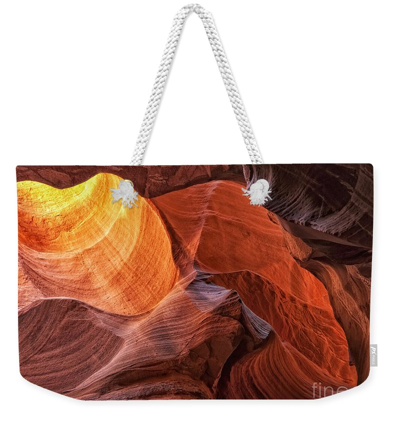 Canyon X Weekender Tote Bag featuring the photograph Canyon Light by Claudia Kuhn