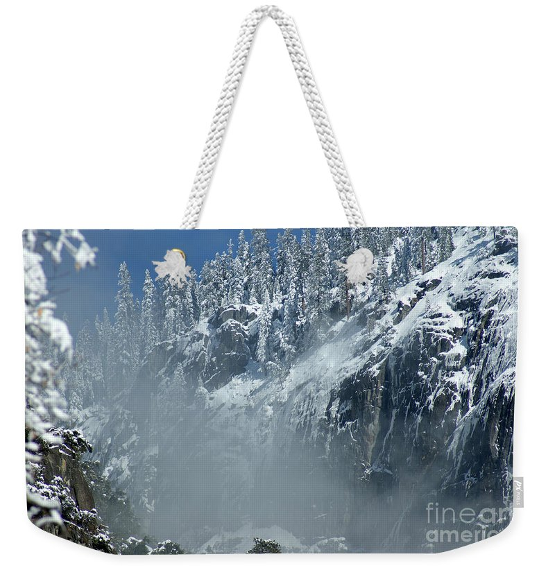 Mist Weekender Tote Bag featuring the photograph Canyon Mist Near Half Dome by Christine Jepsen