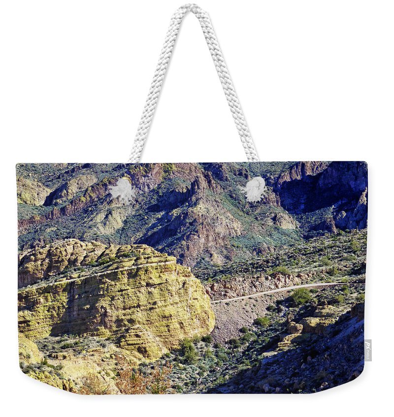 Apache Trail Weekender Tote Bag featuring the photograph Canyon Road by Phill Doherty
