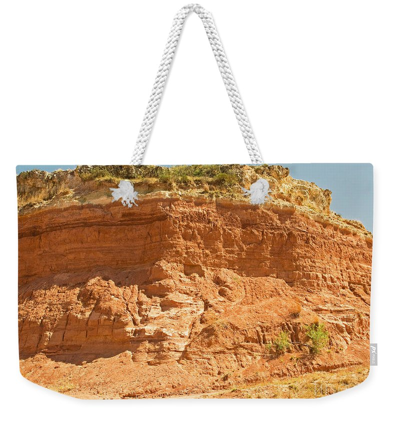 Nature Weekender Tote Bag featuring the photograph Canyonlands In West Texas by Millard H. Sharp