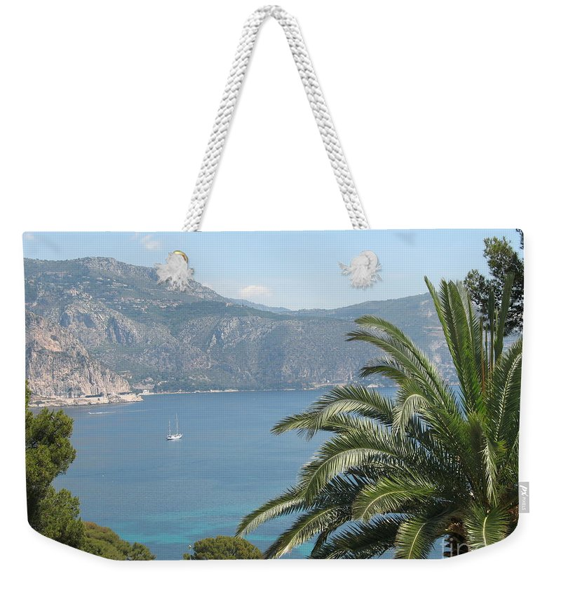 Mediterranean Sea Weekender Tote Bag featuring the photograph Cap Ferrat by Christiane Schulze Art And Photography