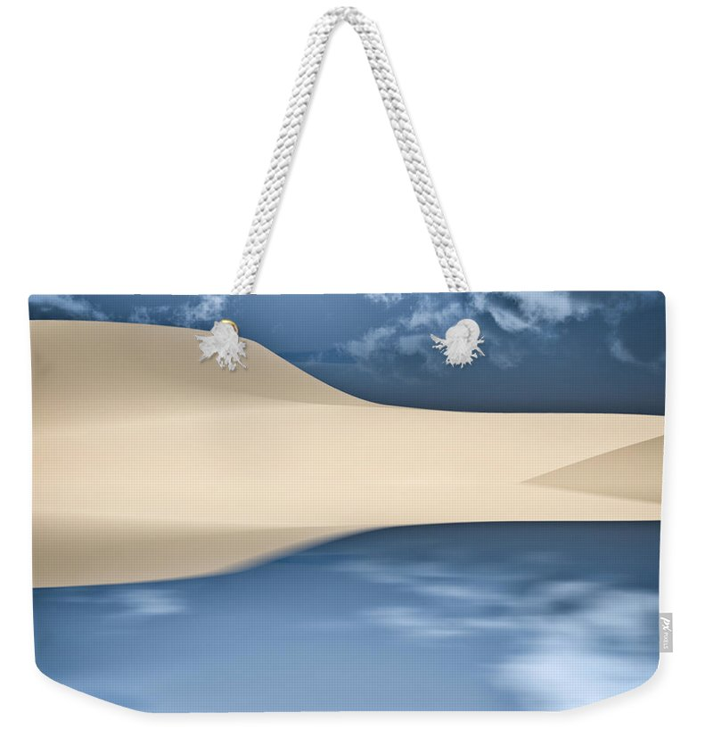 Cape Cod Weekender Tote Bag featuring the photograph Cape Cod Reflections by Bob Orsillo