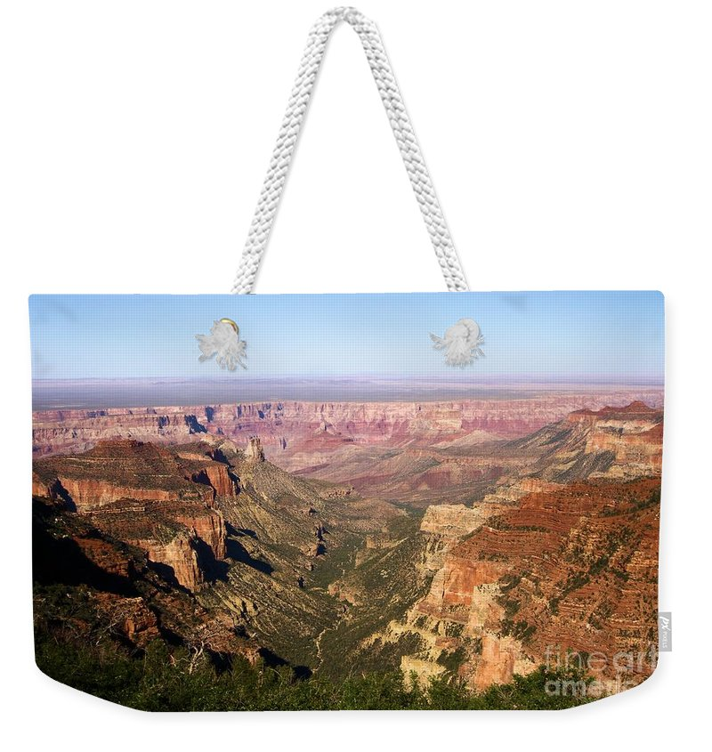 Cape Final Weekender Tote Bag featuring the photograph Cape Final Canyon View by Adam Jewell