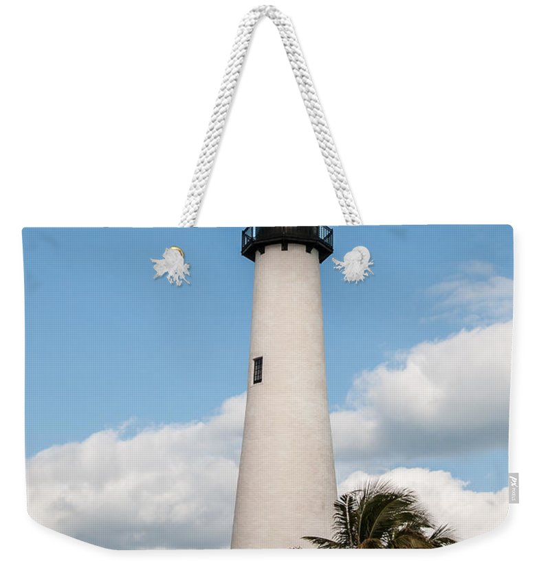 Palm Weekender Tote Bag featuring the photograph Cape Florida Lighthouse by Amel Dizdarevic