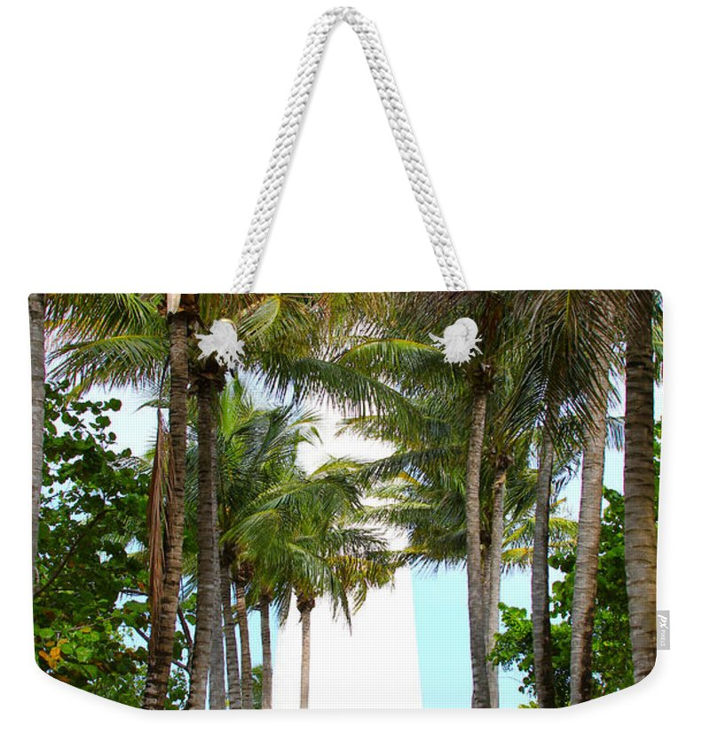 Key Biscayne Weekender Tote Bag featuring the photograph Cape Florida Walkway by Carey Chen